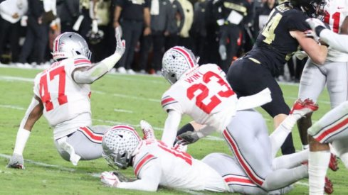 Ohio State's special teams unit attempts to block a punt during Ohio State's 49-20 loss at Purdue on Oct. 20, 2018.