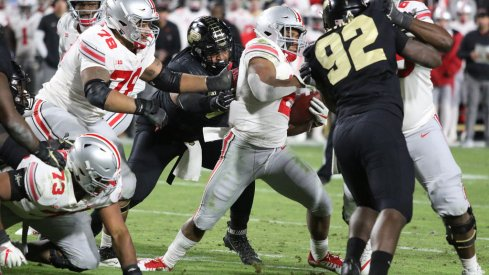 J.K. Dobbins and Mike Weber had nowhere to run in the loss to Purdue.