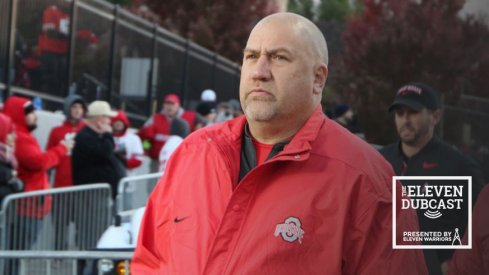 Ohio State offensive line coach Greg Studrawa