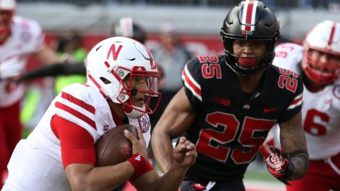 With 13 tackles in just over a half of play, Brendon White played the best game of his young career against Nebraska.
