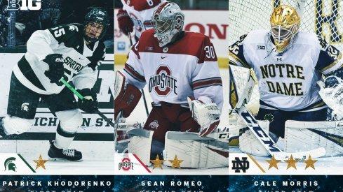 Ohio State goalie Sean Romeo is Big Ten Hockey's Second Star of the Week.
