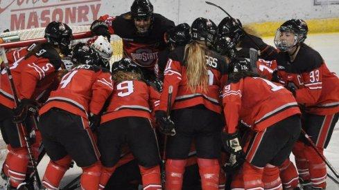 Buckeye hockey huddle