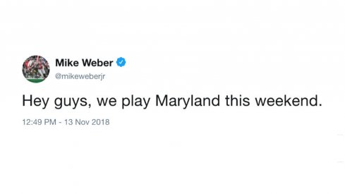 Mike Weber makes it clear.
