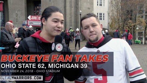 Buckeye Fan Takes: Ohio State 62, Michigan 39