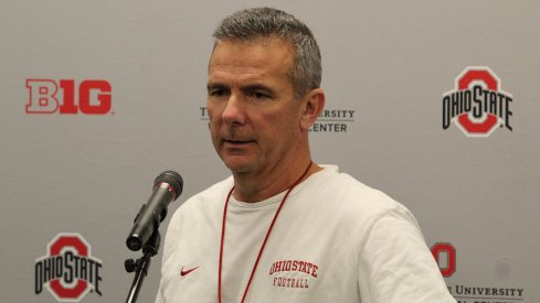 Urban Meyer talks about beating Michigan and stuff.