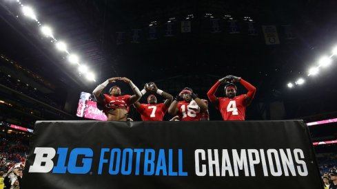 Buckeyes celebrate after winning championship