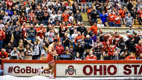 Ethan Smith brought the home crowd to its feet with an emphatic win over a Top 10 opponent.