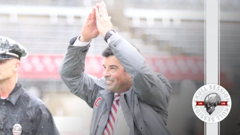 Ryan Day salutes the crowd in today's Skull Session.