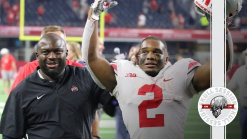 Tony Alford and J.K. Dobbins are fairly happy to be here in today's Skull Session.