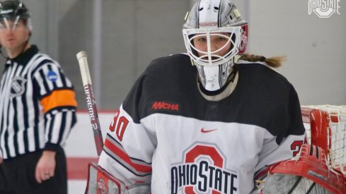 Sophomore goalie Lynsey Wallace made her first appearance in net for the Buckeyes in an exhibition against the Minnesota Whitecaps.