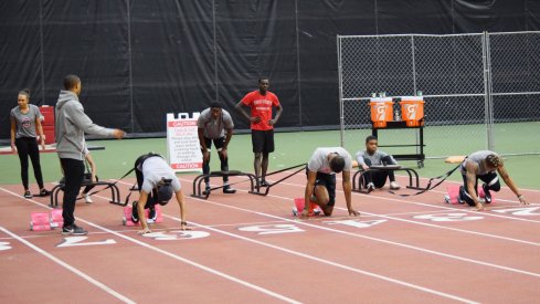Ohio State's Track and Field team practices one final time before their first meet.