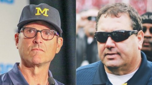 Jim Harbaugh's record through four years at Michigan is eerily similar to Brady Hoke's own four-year run.