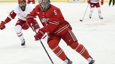Buckeye senior defenseman Tommy Parran netted his first goal of the season in a 4-1 win over Wisconsin.