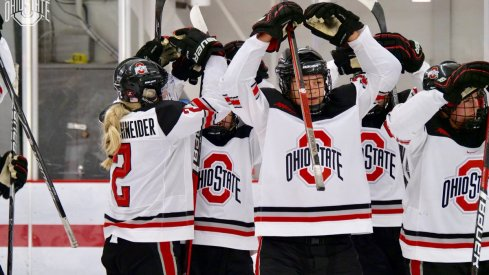 O-H, women's hockey Buckeyes!
