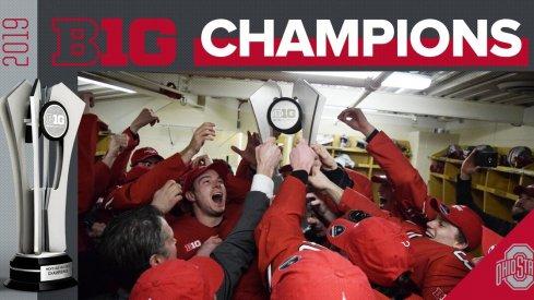The Ohio State Buckeyes, your 2019 Big Ten Hockey champs