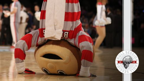 Brutus is upside-down with excitement for today's Skull Session.