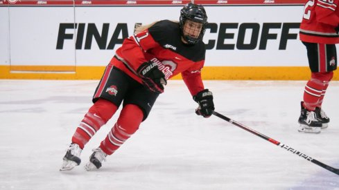 Tatum Skaggs notched goal No. 17 in the Buckeyes' WCHA semifinal loss to Wisconsin.
