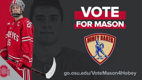 Mason Jobst, Buckeye captain and Hobey Baker Award semifinalist