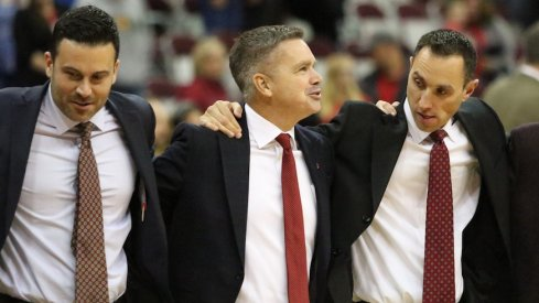 Ryan Pedon, Chris Holtmann and Mike Netti
