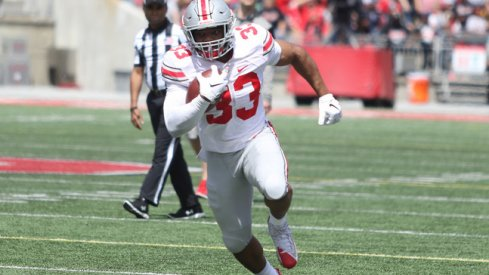 Master Teague was the beneficiary of a reliance on counter runs in OSU's 2019 spring game.