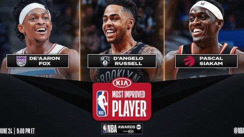 D'angelo russell is a finalist for most improved player.