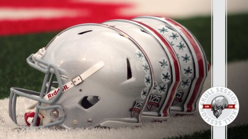 Ohio State helmets are lined up in today's Skull Session.