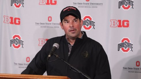 Ryan Day meets with media.