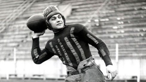 Chic Harley scored on a long touchdown run and recorded four interceptions in Ohio State's 13-3 win over Michigan in 1919.