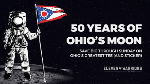 That's Ohio's Moon tee and sticker on sale through Sunday