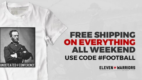 Free shipping all weekend at Eleven Warriors Dry Goods