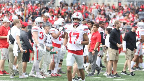 Chris Olave in the Spring Game