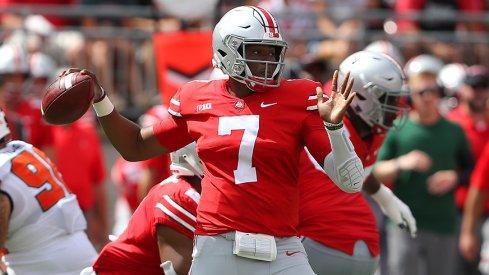 Former Ohio State quarterback Dwayne Haskins