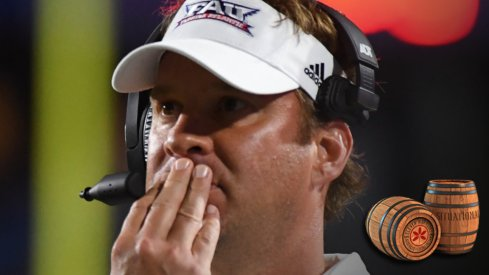 Sep 29, 2018; Murfreesboro, TN, USA; Florida Atlantic Owls head coach Lane Kiffin during the second half against the Middle Tennessee Blue Raiders at Floyd Stadium. Mandatory Credit: Christopher Hanewinckel-USA TODAY Sports