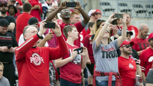 Ohio State fans at Ohio Stadium