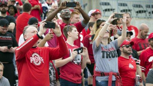 Ohio State fans at Ohio Stadium