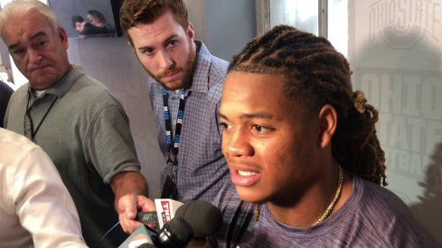 Chase young meets with the media