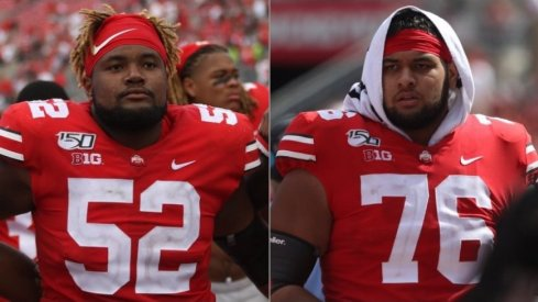 Wyatt Davis and Branden Bowen hold down the right side of Ohio State's offensive line.