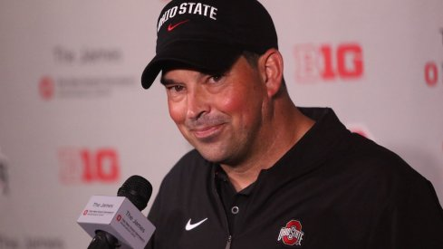 Ryan Day meets with the media