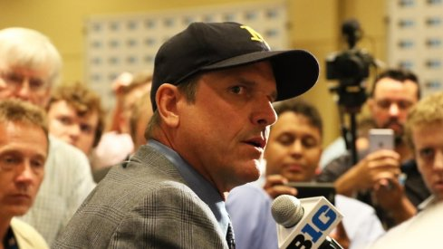Current head Michigan football coach Jim Harbaugh