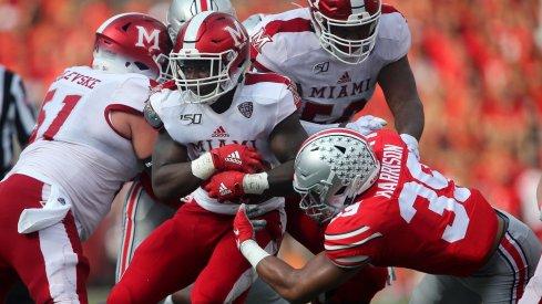 Senior linebacker Malik Harrison has starred in Ohio State's new-look defense.