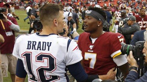 Dwayne Haskins meets Tom Brady.