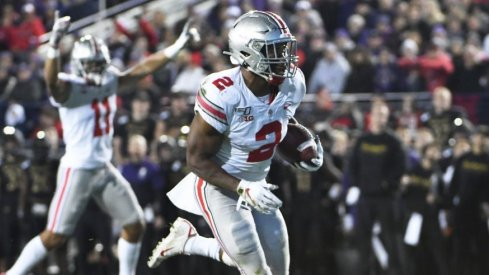 J.K. Dobbins ran for 121 yards on 18 carries including a 68-yard burst against Northwestern.
