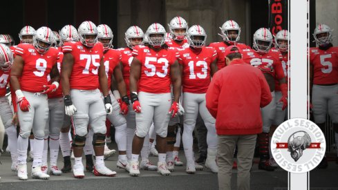 The Buckeyes are ready to take the field in today's skull session.