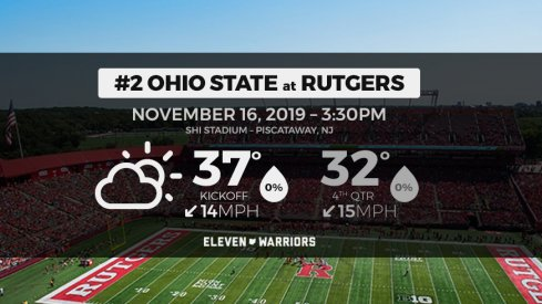 It will be cold and dry for Ohio State–Rutgers