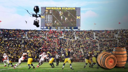 Nov 28, 2015; Ann Arbor, MI, USA; Michigan Wolverines quarterback Wilton Speight (3) drops back to pass during the game against the Ohio State Buckeyes at Michigan Stadium. Mandatory Credit: Tim Fuller-USA TODAY Sports