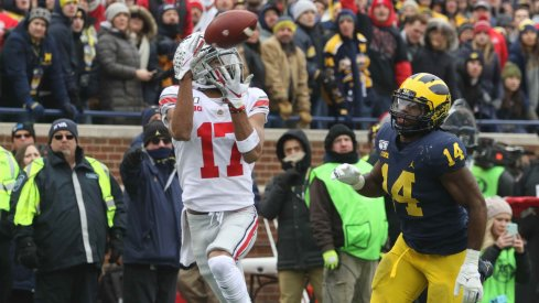 Chris Olave took the top off the Wolverine secondary thanks to the constant threat of J.K. Dobbins and the OSU running game.