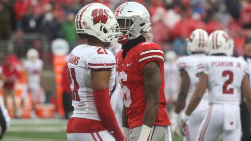 Wisconsin's Caesar Williams and Ohio State's Jameson Williams during the regular-season game.