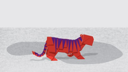 Brutus encounters a paper tiger in this week's game poster.
