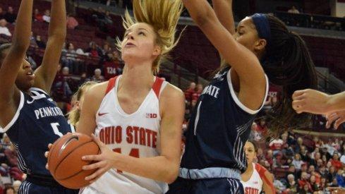 Ohio State Women's Basketball forward Dorka Juhasz