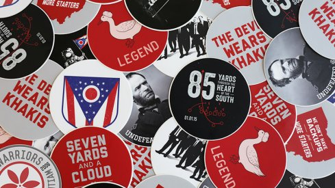 30% off all stickers at Eleven Warriors Dry Goods today only